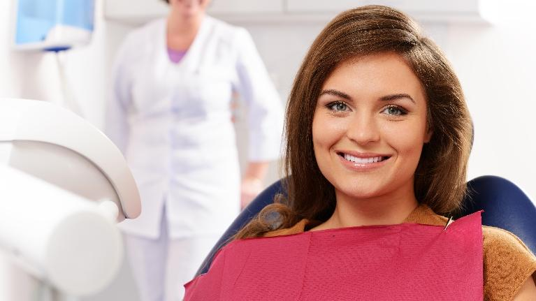 female dental patient smiling | Azalea Dental near Simpsonville, SC